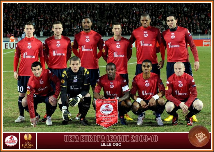 OSC Lille team group in 2009-10.
