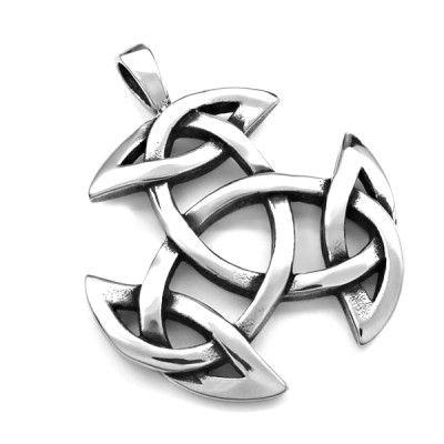 Ocelový přívěsek - Triquetra Symbol / Celtic / Pagan. Odkaz na WEBSHOP: http://www.ocelovesperky4u.cz/ocelove-privesky/triquetra-celtic-pagan-symbol-01-steel316L