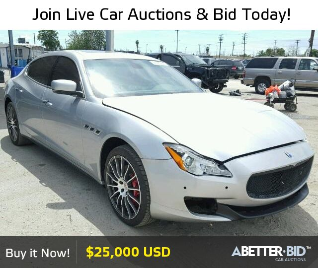 Salvage 2014 MASERATI ALL MODELS For Sale