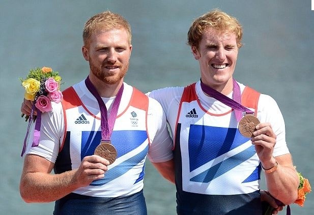 Men's Pairs Rowing:  Team GB's 2012 16th Olympic medal was a Bronze won by: George Nash, Will Satch on Friday 3rd August 2012 in a time of 6:21.77 at Eton Dorney, Windsor.