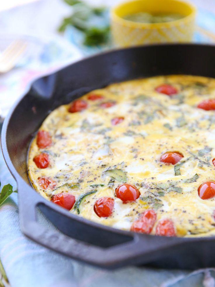 Zucchini Caprese Frittata - Our Best Bites