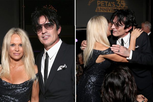 Pam Anderson & Tommy Lee: Sexy Legendary Exes Kiss & Take Pics At PETA Gala