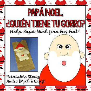 This book is perfect to introduce vocabulary related to Christmas in Spanish. It's short, fun and has a lot of repetition. Perfect for young learners!You will find:Printable version of the storyPowerPoint versionNarration of the story (Mp3 file)Pap Noel craft #Navidad #Christmas