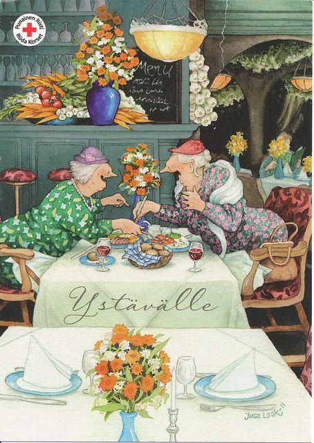 Inge Look Grannies-Old Ladies by VeryHappyHomemaker-Angee at Postcrossing, via Flickr
