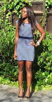 Nautical Blue striped dress- Tutorial
