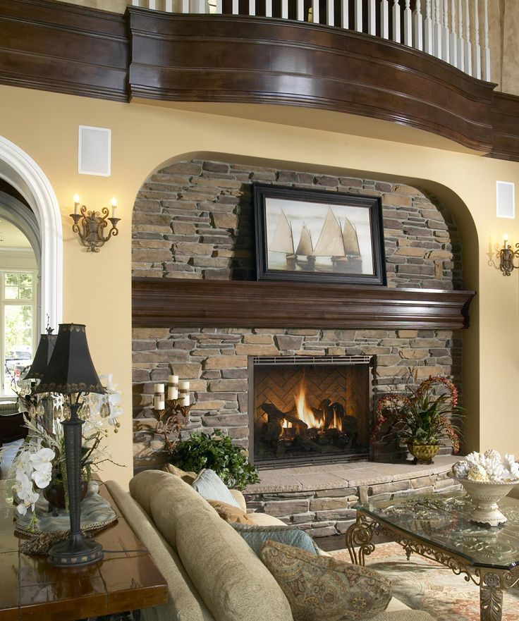 36 best stone fireplaces images on pinterest fire places - Stone fireplace surround ideas ...