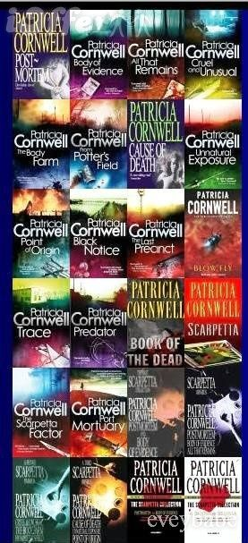 Patricia Cornwell. They are all worth reading I have collection. Kay Scarpetta is a forensic pathologist and the series of books on her character is a heart racing edge of your seat read.