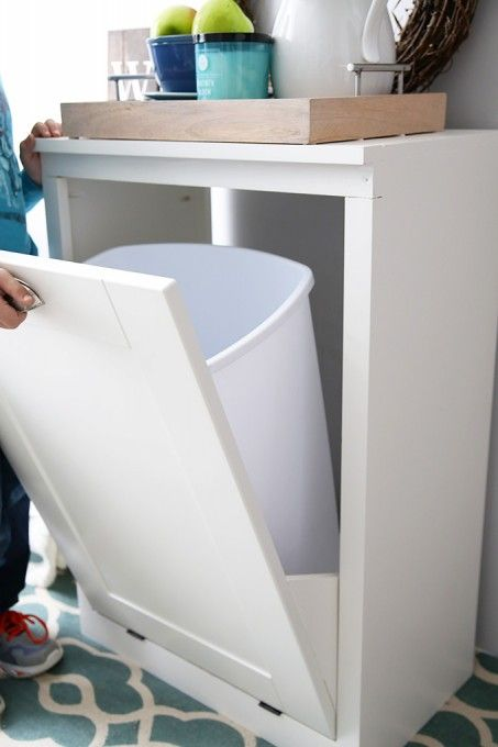How To Build A Custom Tilt Out Trash Cabinet The O Jays