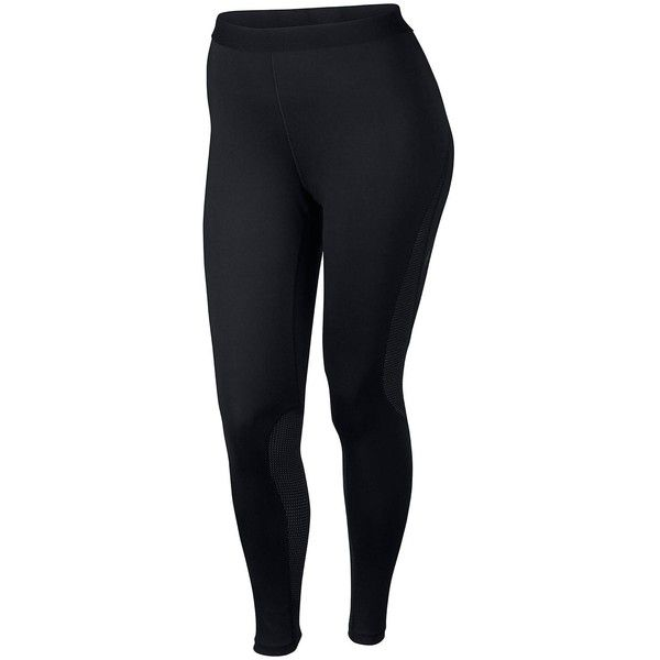 Nike Nike Hypercool Tight (Plus Size) ($55) ❤ liked on Polyvore featuring activewear, activewear pants, plus size sportswear, women's plus size activewear, plus size activewear, nike and nike activewear pants