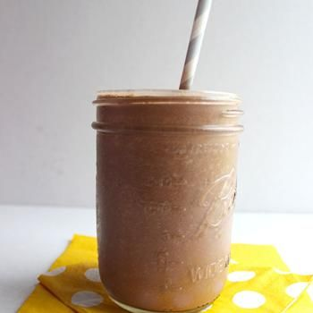Skinny Chocolate Shake: 2 frozen bananas 1tbsp unsweetened cocoa powder (or cacao powder) 1tbsp vanilla 1tbsp peanut butter 1 cup almond milk 1 cup ice cubes