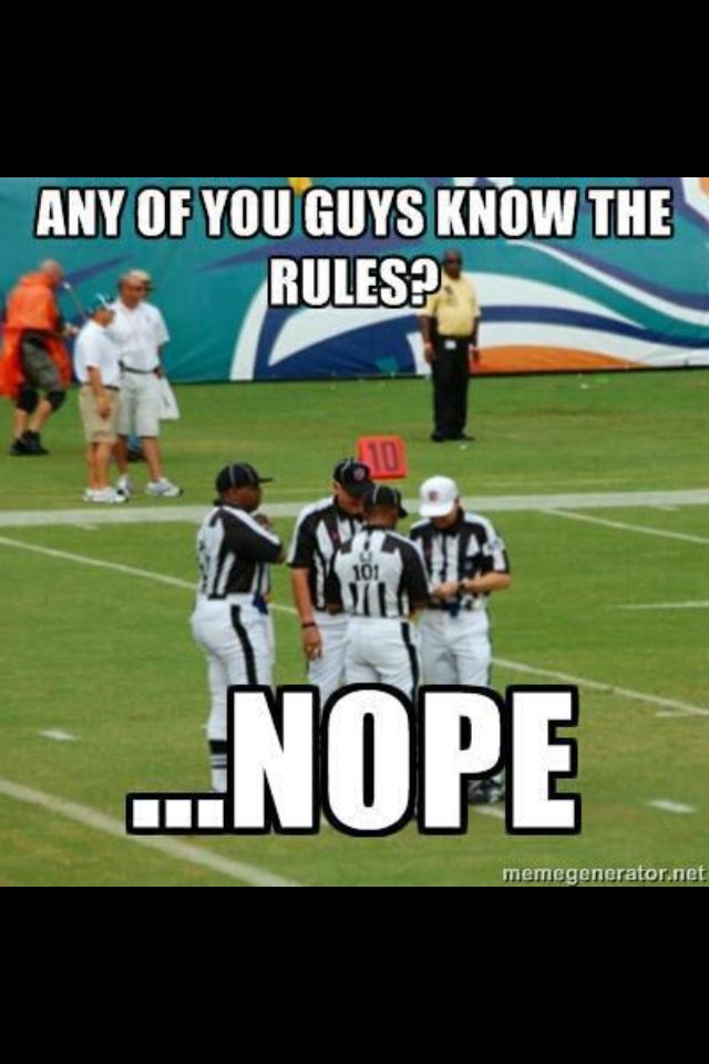 Oh poor replacement refs!