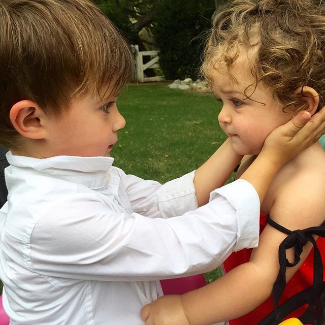 "Alyssa Milano shared this ADORABLE photo of her children and wrote, ""I don't even know how to caption this."" It left her speechless!"