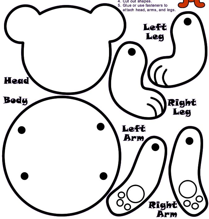 Polar bear worksheet preschool storyplace pre school for Make your own teddy bear template