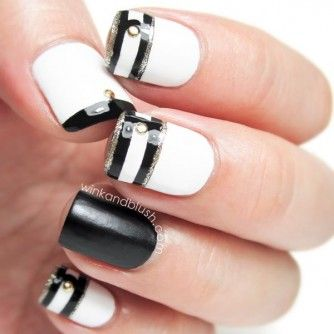 Tendinte unghii 2014: Nails Trends, Nails Art Tutorials, Nailart, Nails Design, Black And White, Summer Nails, White Nails, Nail Design, Nails Art Design