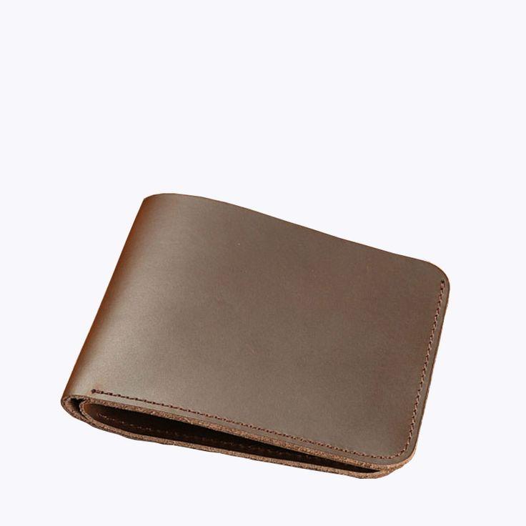 Male Wallet Crazy Horse Leather Vintage Short Slim Men Wallets Handmade Small Man Purse Money Purse for Cool Men portomonee