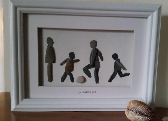Pebble Art pictures Custom Made Family by CornishPebbleArt on Etsy