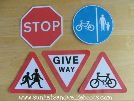 Sun Hats & Wellie Boots: DIY: Road Safety Signs for Outdoor Play