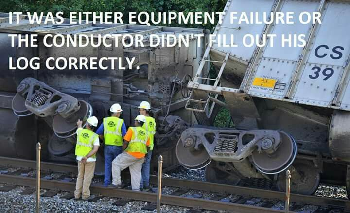 Railroad Humor. White hats. In the Red Zone like a new hire.
