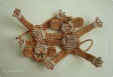 Обезьяна плетеная из газетных трубочек. Мастер класс   oblacco