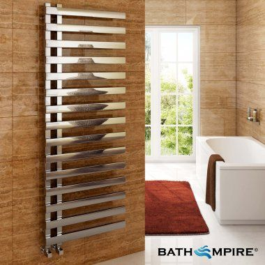 1600x600 mm Chrome Flat Panel Designer Towel Radiator - BathEmpire