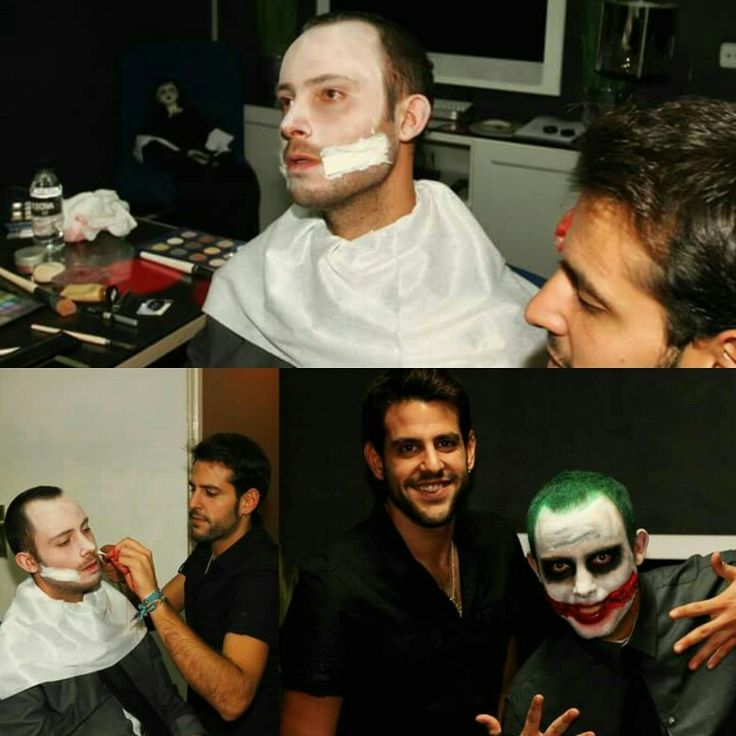 Otro #maquillaje de #halloween para #sonamar  está vez de #joker #makeup #makeuphalloween #clown #daviddelmoralestilista