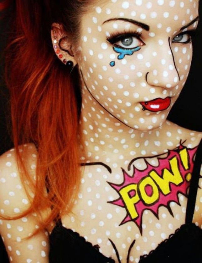 12 Halloween Makeup Looks That Won't Give You Nightmares via Brit + Co.: