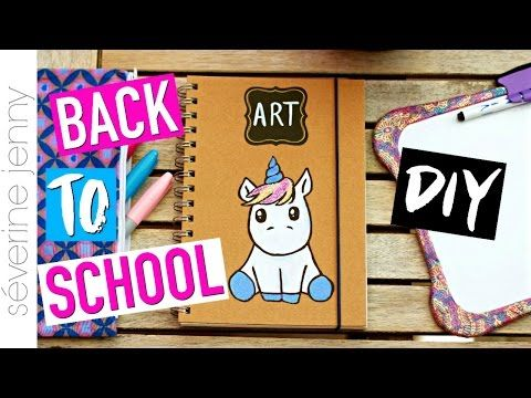 DIY Back To School 2016 : Fournitures Scolaires LICORNE (français) - YouTube