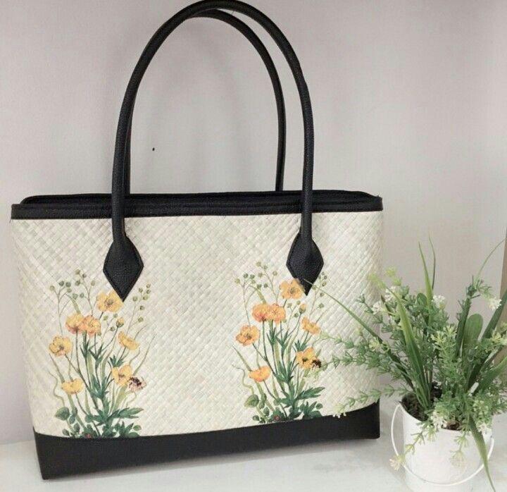 Brushwood Painting - Woven Bag