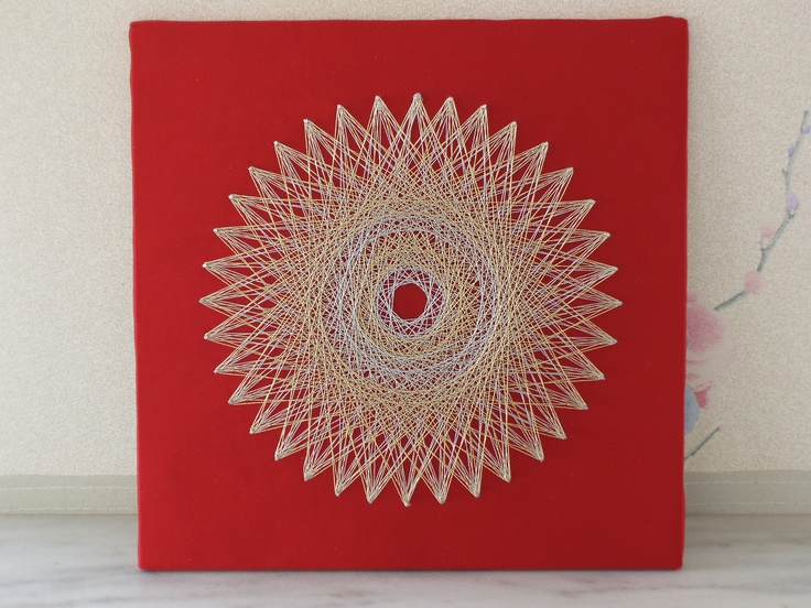 I am trying a new background - red satin - and using very thin silver and gold thread for this piece.