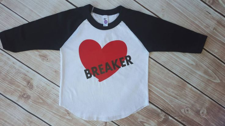 Valentines, boy, toddler boy, baby boy, heart breaker, valentines day shirt, valentines day baby, valentines outfit, raglan, baseball tee by Our5loves on Etsy