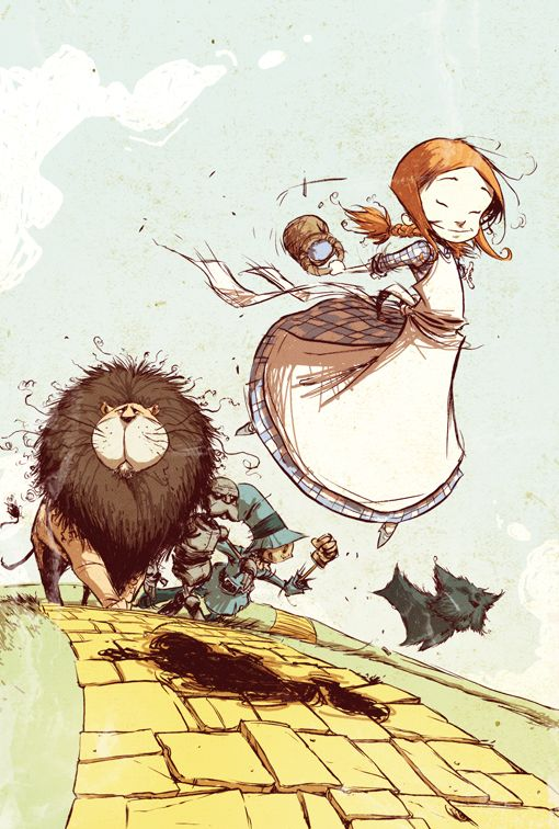 Dorothy and the Yellow Brick Road, by Skottie Young for Marvel Comics
