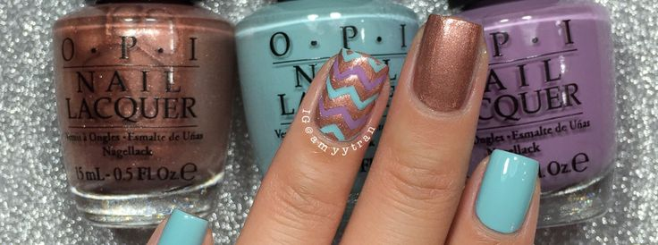 Nail Art Tutorial: Bronze Chevron Manicure