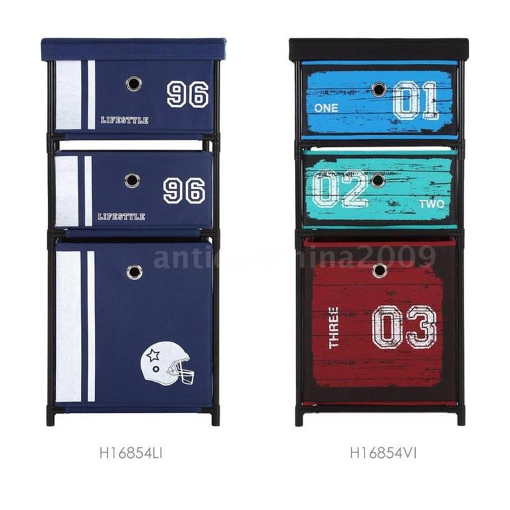 Portable Fabric 3-Drawer Home Office Storage Box Clothes Cabinet Organizer I4O4