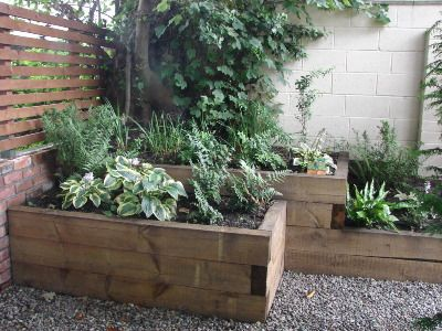 how to build a raised flower bed with railroad ties