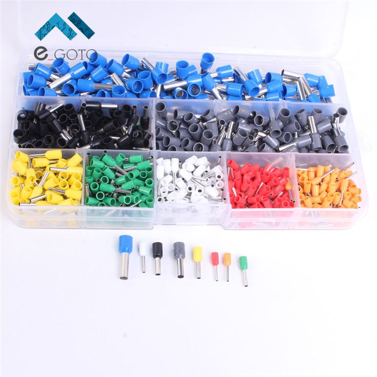 Copper Crimp Connector Insulated Cord Pin End Terminal Ferrules Kit Set Wire Terminals Connector VE1008 0508 7508 4009 1508 2508