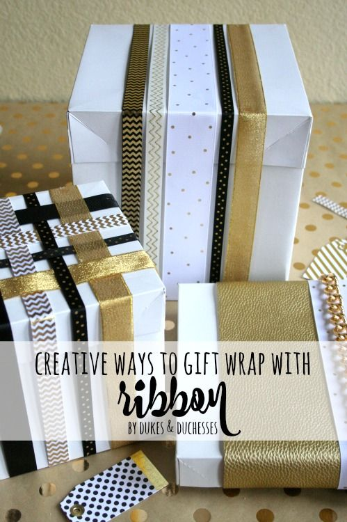 creative ways to gift wrap with ribbon