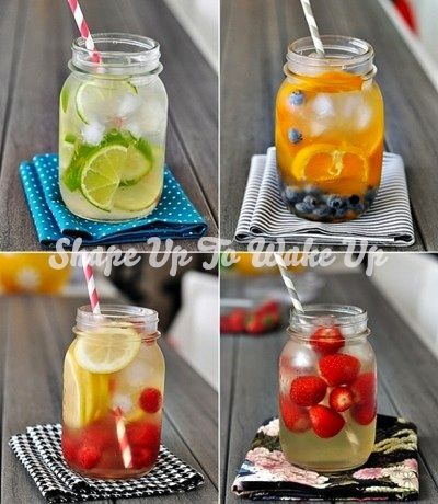 Shape Up to Wake Up: Fruit Infused Coconut Water
