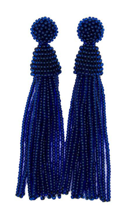 Beaded Tassel Earrings on Etsy