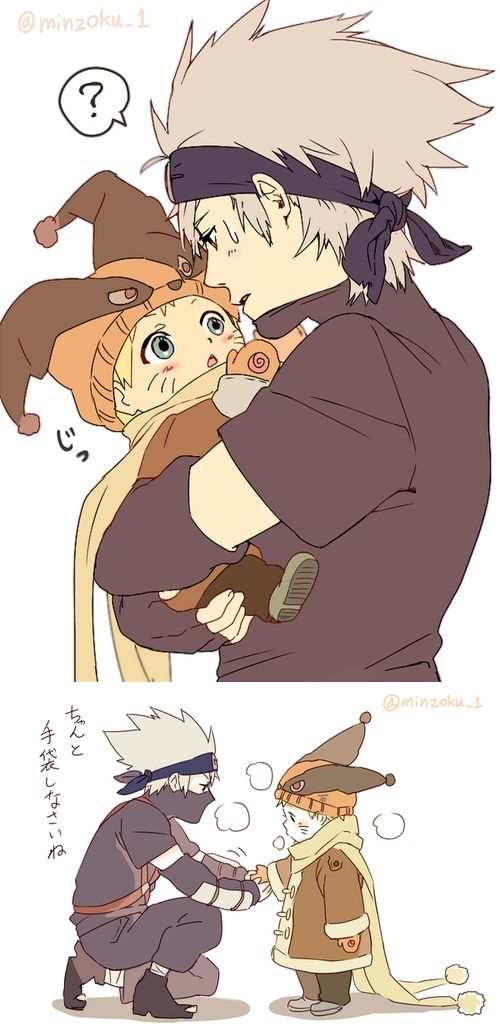Naruto saw kakashi lips