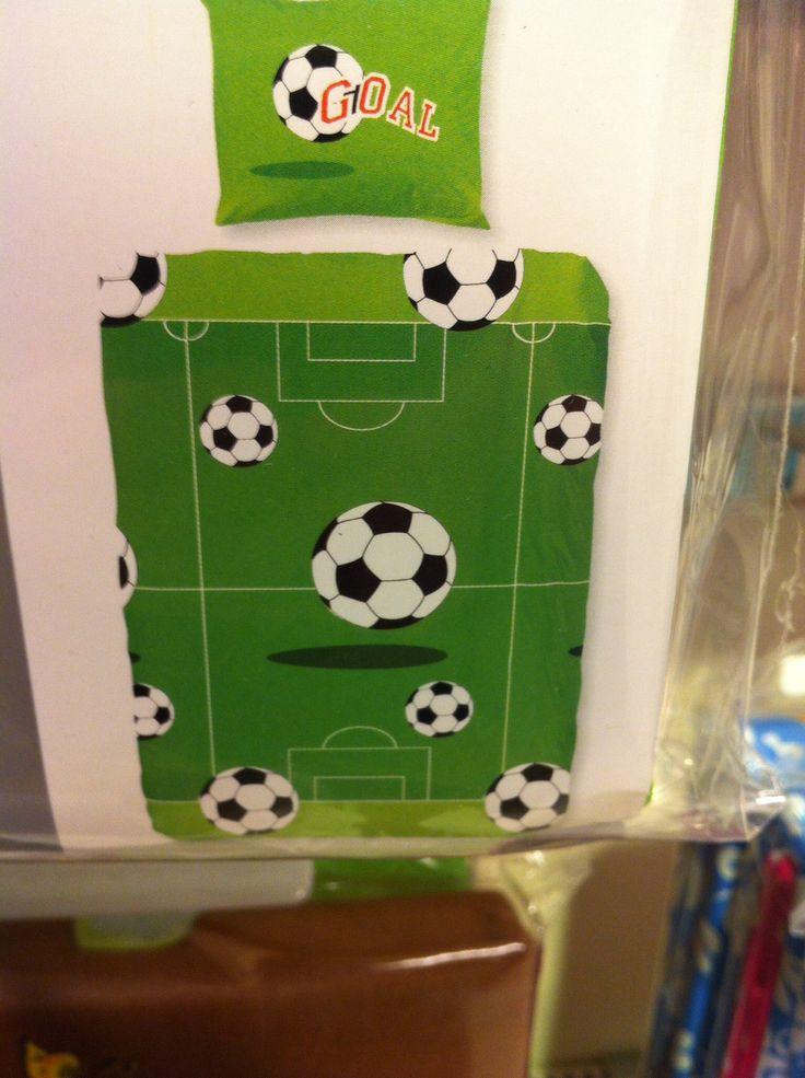 Dekbedhoes voetbalprint - Leen Bakker