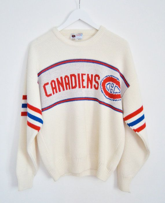 70s Knit Montreal Canadiens Sweater... Im a Leafs fan, but this sweater is really cute!