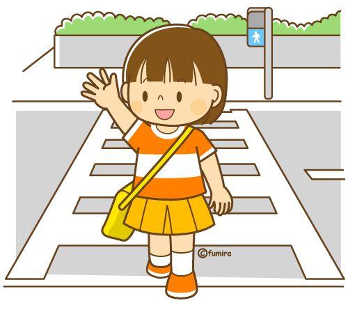 カバンに持ち物をつめる女の子とお母さんのイラスト(カラー)