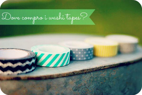Dove comprare i washi tape? Una guida dettagliata di siti online dove acquistarli. #washitape #packaging #stationery