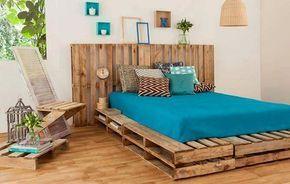 12 Camas e as suas cabeceiras todas feitas com paletes de madeira