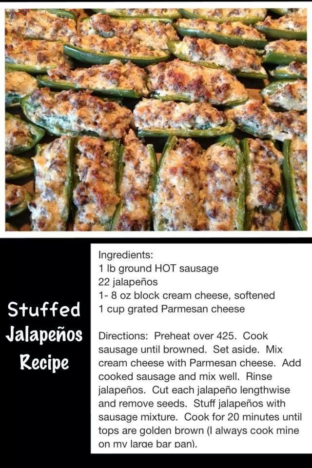 Stuffed Jalapenos Recipe...these were sooooo good!