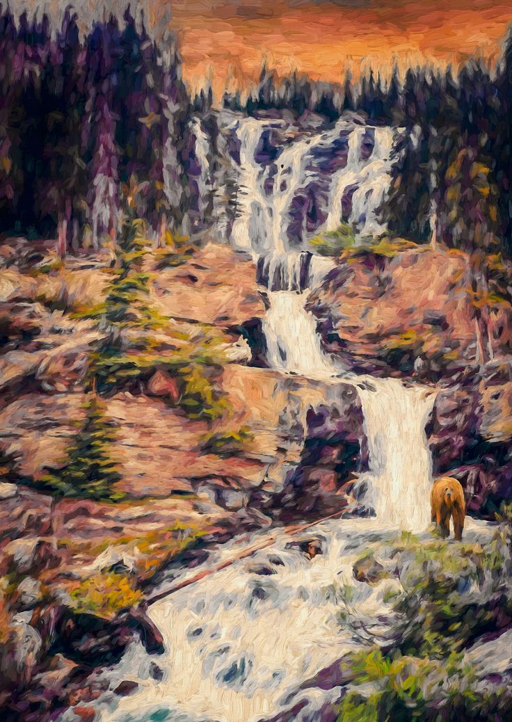 Grizzly Ground - Here's another in my series on mystery novel covers. This one I call Grizzly Ground. The plot synopsis may go something like this: Lorne McHardy, on a hunting trip lasting several days, was found dead by a search party near the bottom of a series of cascading falls. Initially, the police report indicated a bear attack. Ten years later two hunters in the same area uncovered a gruesome secret that strongly indicated Lorne McHardy died as a result of murder.