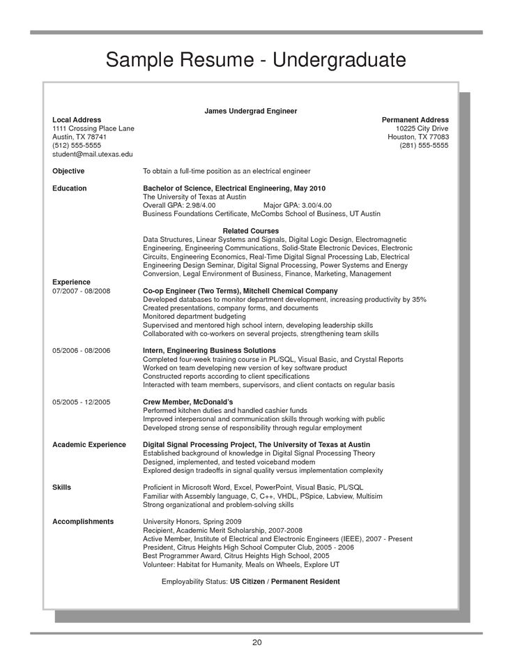 undergraduate resume example clinical nurse specialist sample - cashier job dutie