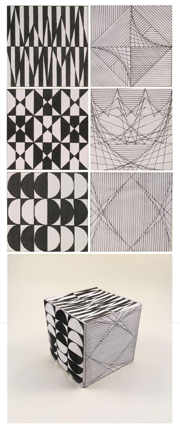 Manninger Zsuzsa, geometrikus minták / Manninger Zsuzsa, geometric pattern