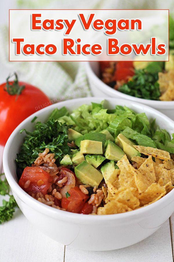 Tasty Taco Rice Bowls Vegan Gluten Free
