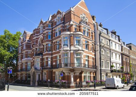 LONDON, UK - JUNE 3, 2014: Mayfair town houses, center of London - stock photo